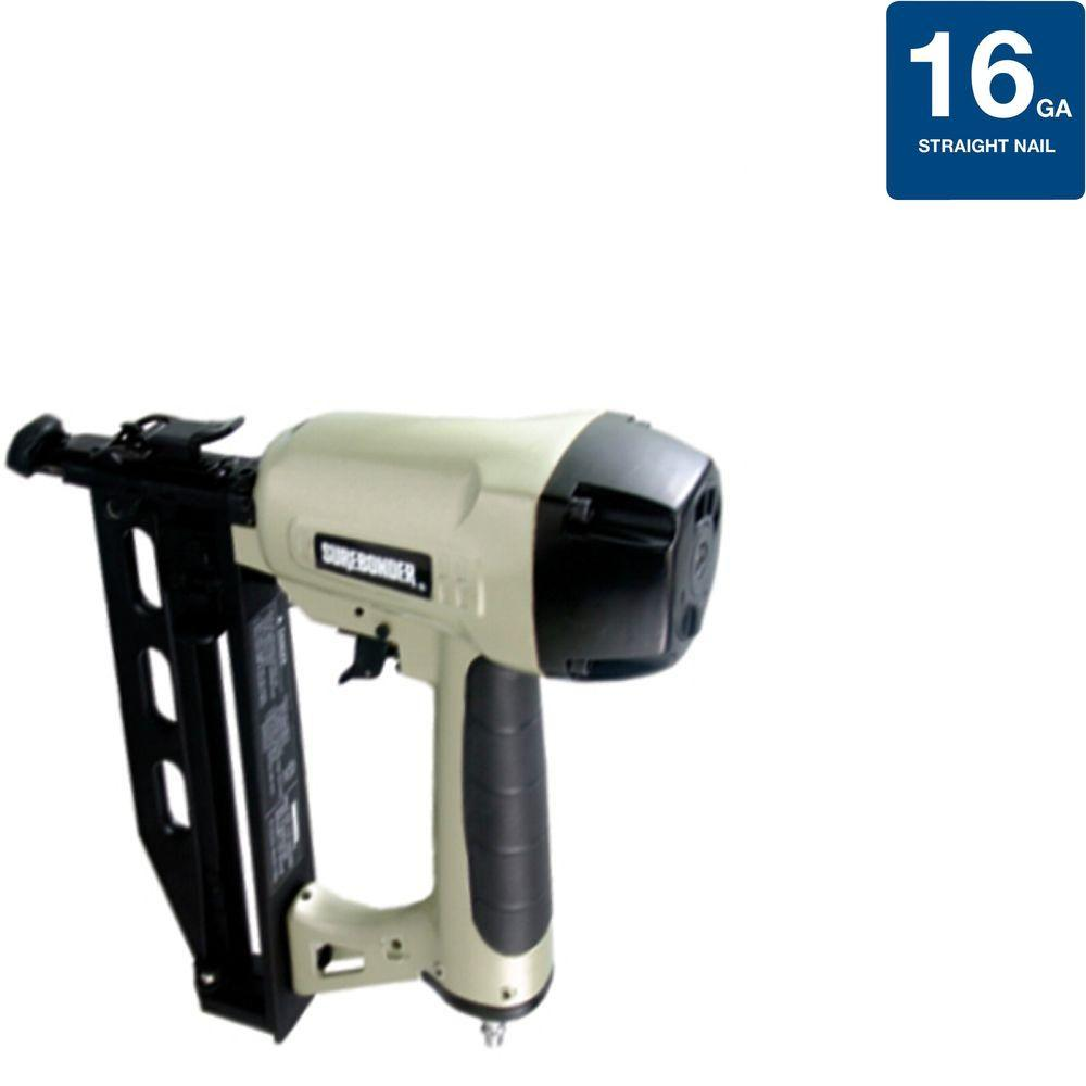 Pneumatic 2-1/2 in. x 16-Gauge Straight Nailer with Carrying Case