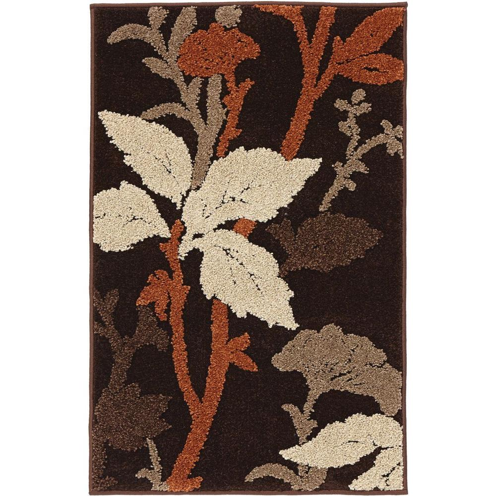 Home Decorators Collection Blooming Flowers Brown Rust 3