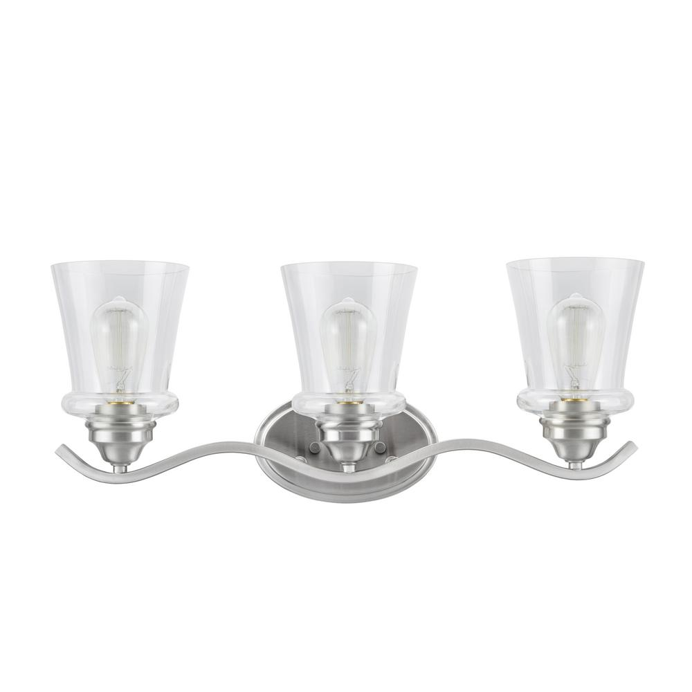 Tech Lighting Aspen 36: Aspen Creative Corporation 3-Light Satin Nickel Vanity