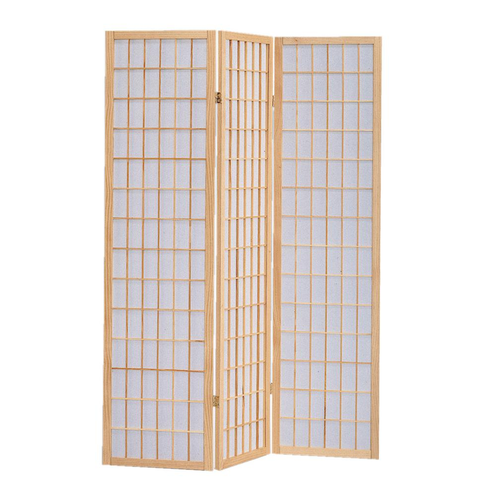 Screen Gems Shoji 6 Ft Natural Brown 3 Panel Room Divider