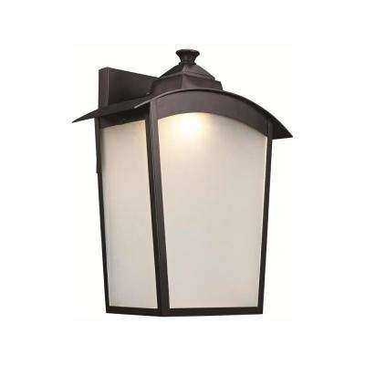 1 Light Rubbed Oil Bronze Outdoor Integrated Led Wall Lantern Sconce