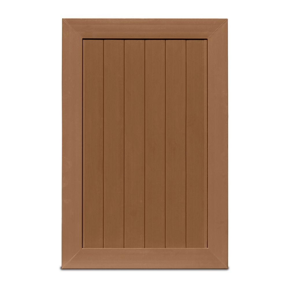 Veranda Pro Series 4 Ft W X 6 Ft H Brown Vinyl Anaheim Privacy