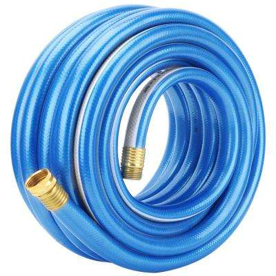 5/8 in. Dia x 100 ft. Blue with White Stripe 4 Stars Garden Hose