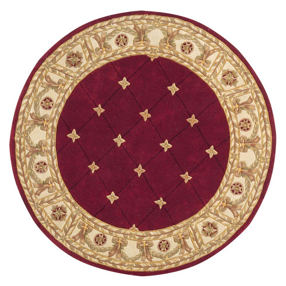 home decorators collection windsor burgundy 8 ft round area rug