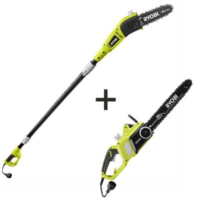 16 in. 13 Amp Electric Chainsaw and 6 Amp Pole Saw