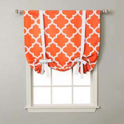 Moroccan 42 in. W X 63 in. L Drapery Panel in Orange