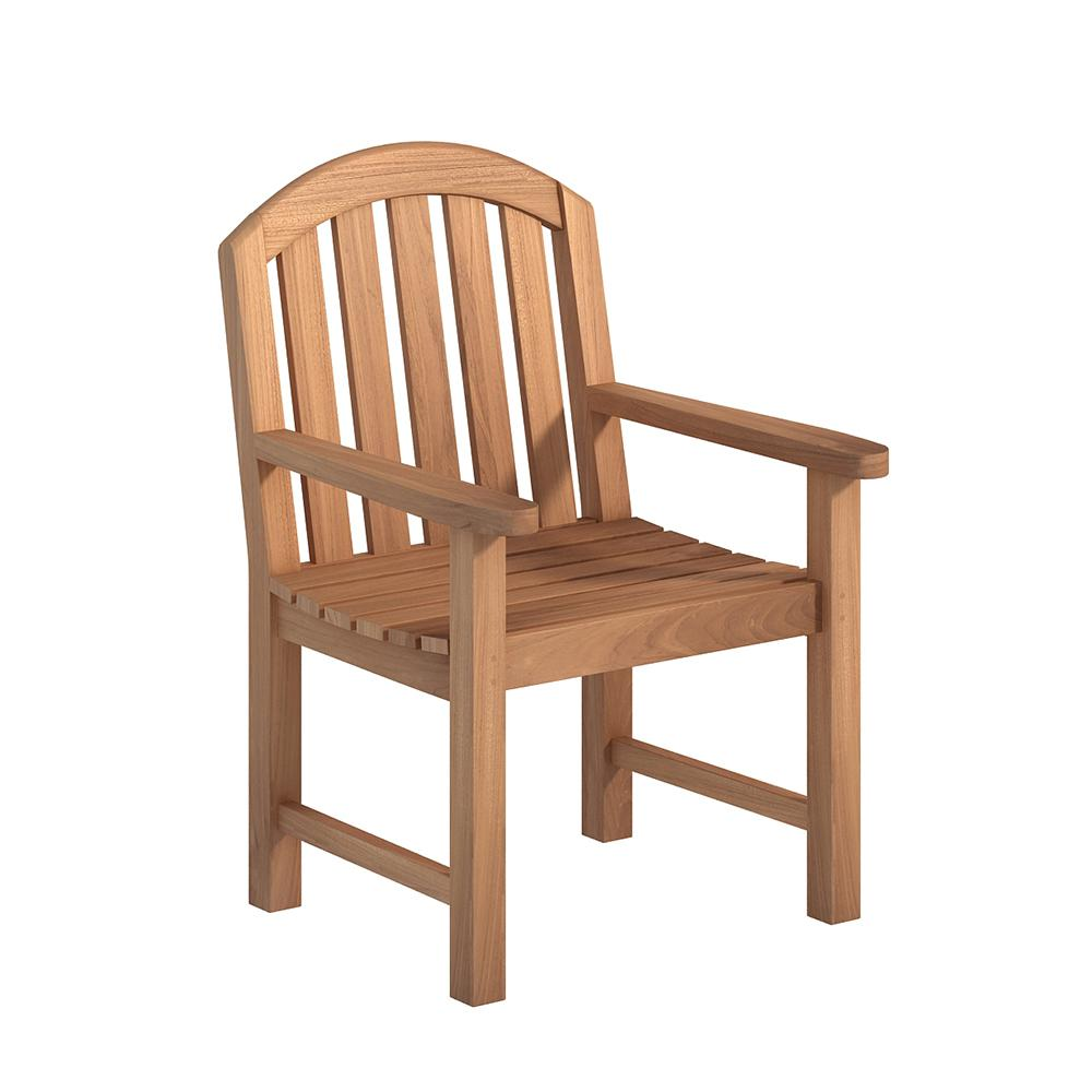 Armchair Natural Teak Outdoor Dining Chair