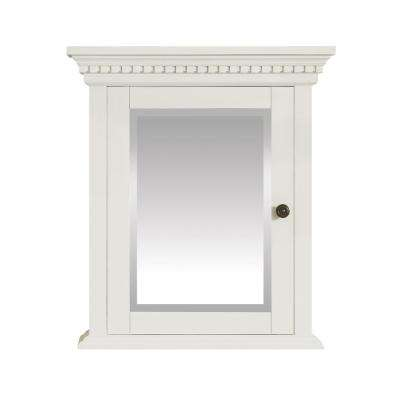 Hastings 24 in. W x 27 in. H x 7.9 in. D Surface-Mount Medicine Cabinet in French White