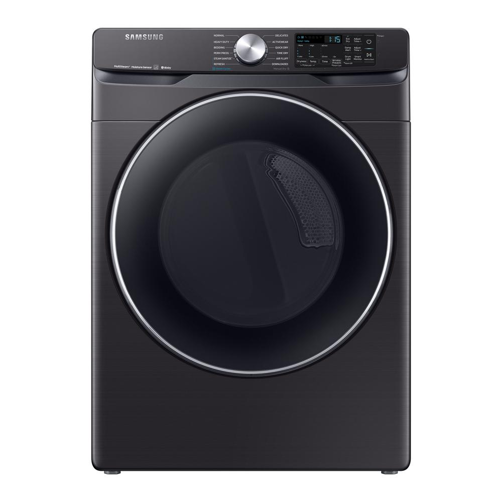 Samsung 7.5 cu. ft. Fingerprint Resistant Black Stainless Electric Dryer with Steam Sanitize+, ENERGY STAR