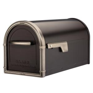 Mailbox Post Mount Bronze Heavy-Duty Steel Large Metal Antique Classic Style