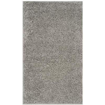 Athens Shag Light Gray 3 ft. x 5 ft. Area Rug