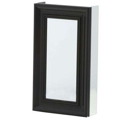 15 in. x 26 in. Framed Recessed or Surface-Mount Bathroom Medicine Cabinet with Framed Door in Espresso