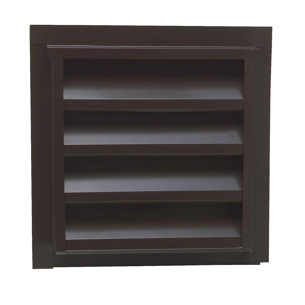 12 in. x 12 in. Square Gable Vent in Brown