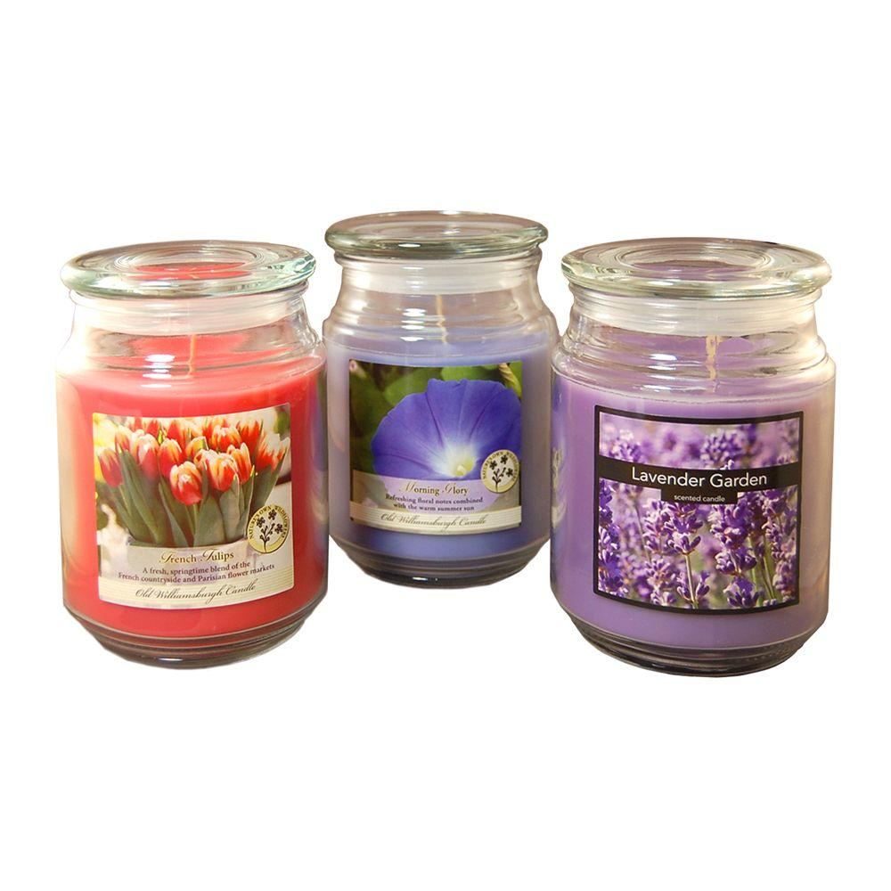 Lumabase 18 Oz. Scented Candle Collection Floral (3-Count