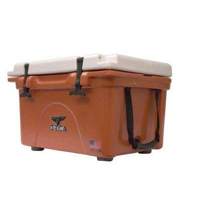 ORCA Burnt Orange/White 26 Qt. Cooler