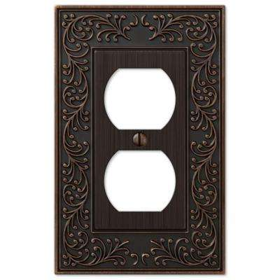 English Garden 1 Duplex Wall Plate - Aged Bronze