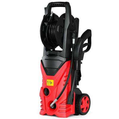 2030 PSI 1.7 GPM 1800-Watt Electric Pressure Washer Cleaner with Hose Reel in Red