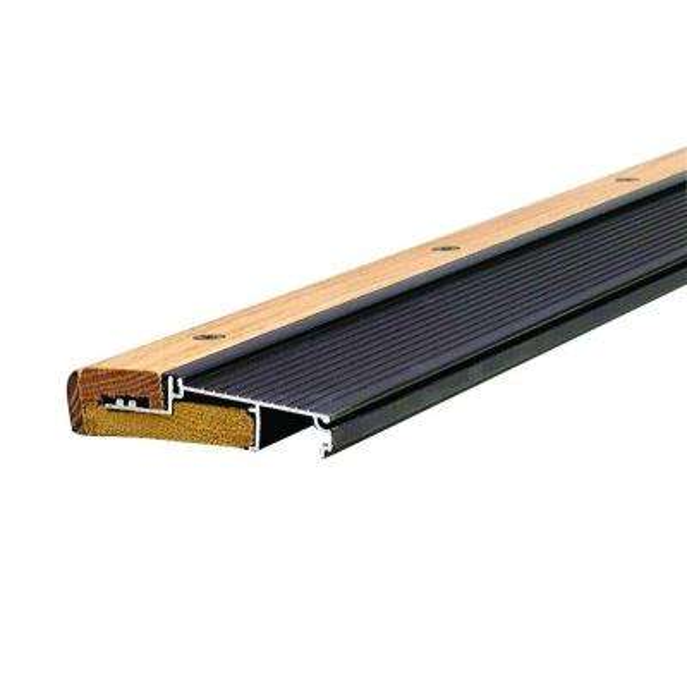 Adjustable 4-9/16 in. x 96 in. Bronze Aluminum and Hardwood Inswing Threshold