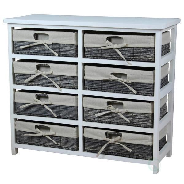 Vintiquewise 27 In X 24 In H Rustic White Wooden Storage Chest