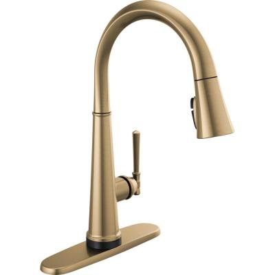 Emmeline Single-Handle Pull-Down Sprayer Kitchen Faucet with Touch2O and ShieldSpray in Lumicoat Champagne Bronze