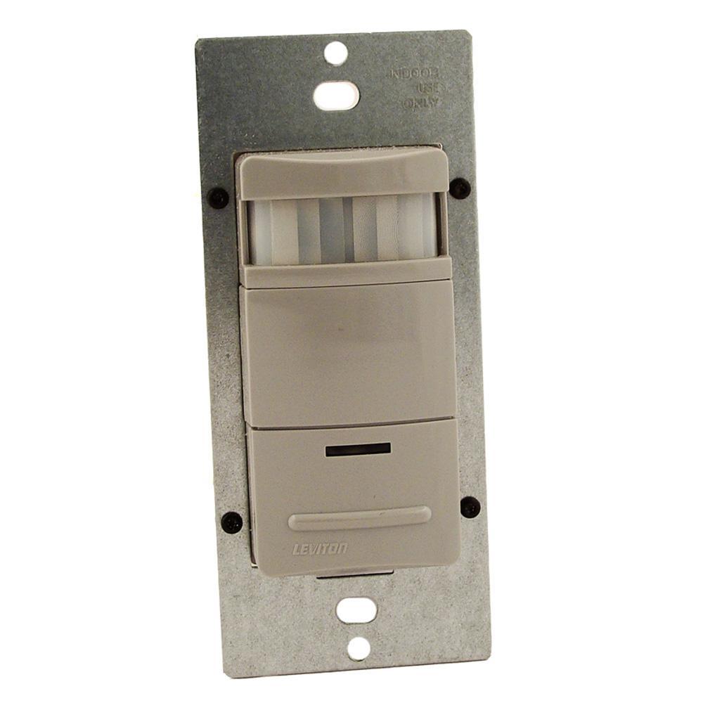 Leviton Pr180 Wiring Diagram Schematics Two Switch Light 500 Watt 180 Occupancy Sensor Almond R58 1lt Dual Wall