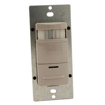 Decora Commercial Grade Passive Infrared Single-Pole 2100 sq. ft. 180-Degree Occupancy Sensor, Gray