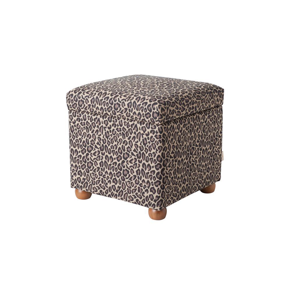 Fantastic Jennifer Taylor Jacob Leopard Print Storage Ottoman 2319 655 Inzonedesignstudio Interior Chair Design Inzonedesignstudiocom