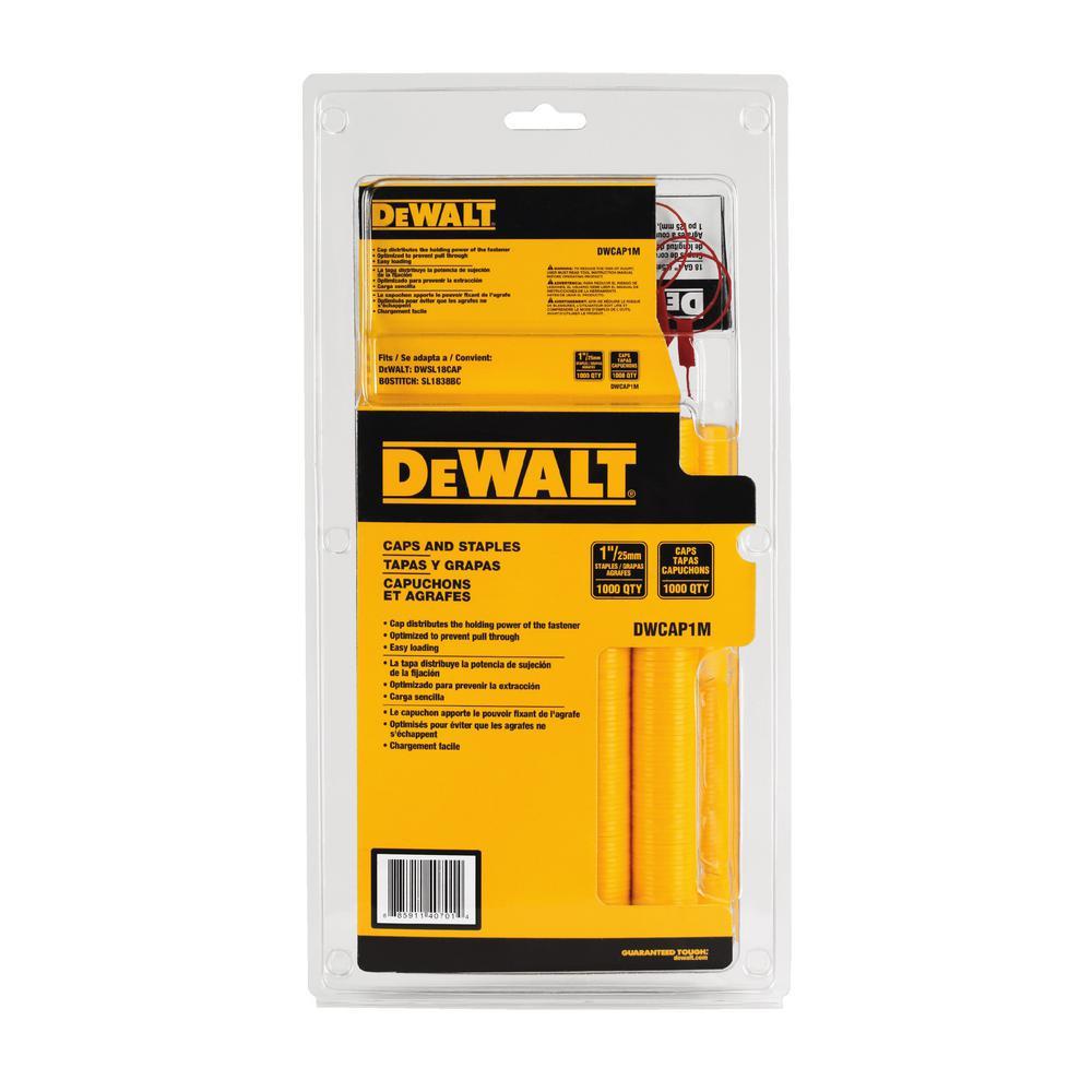 Dewalt 18-Gauge 5/16 inch Crown Cap Staples (1,000-Pack) by DEWALT