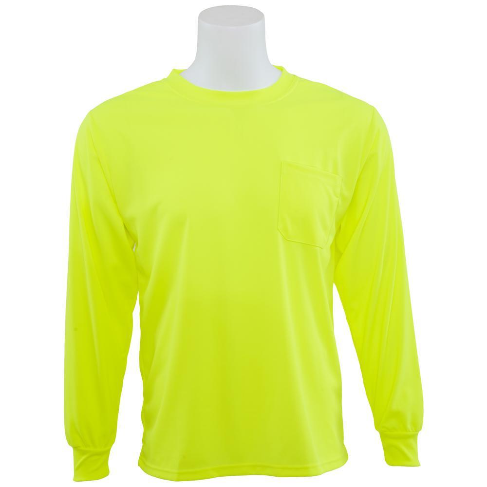 9007 5X Non-ANSI Poly Birdseye Mesh Hi Viz Lime T-Shirt