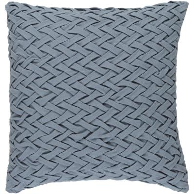 Bendmore Slate Solid Polyester 22 in. x 22 in. Throw Pillow