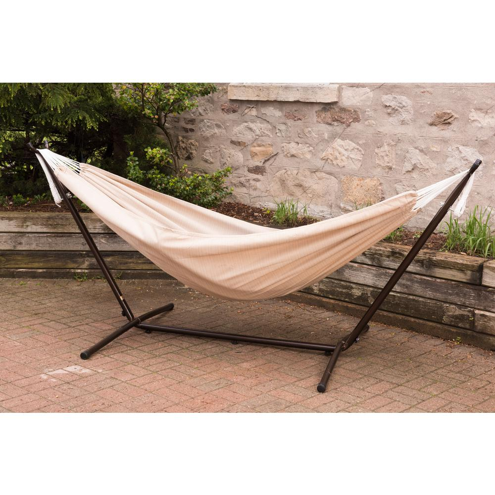 Vivere 9 Ft. Combo Sunbrella Hammock With Steel Stand In