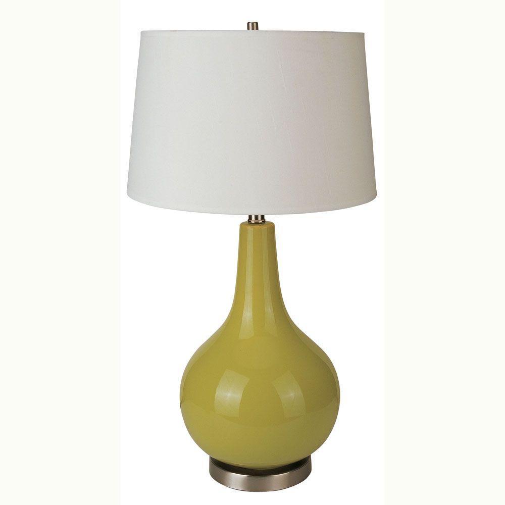 Ceramic Apple Green Table Lamp