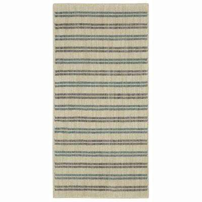 Reese Flat Grey 2 ft. x 4 ft. Indoor Area Rug