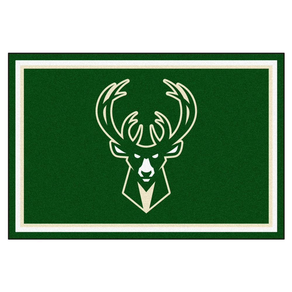 FANMATS NBA Milwaukee Bucks Green 5 ft. x 8 ft. Indoor Area Rug-9323 - The  Home Depot 5d68fcde4