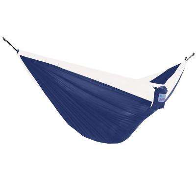 Vivere 10 ft. Parachute Double Hammock in Navy/ White