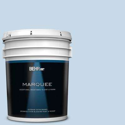 5 gal. #MQ3-24 Celestial Light Satin Enamel Exterior Paint and Primer in One