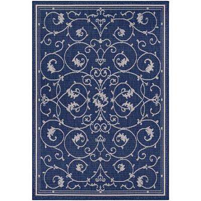 Recife Veranda Ivory-Indigo 6 ft. x 9 ft. Indoor/Outdoor Area Rug