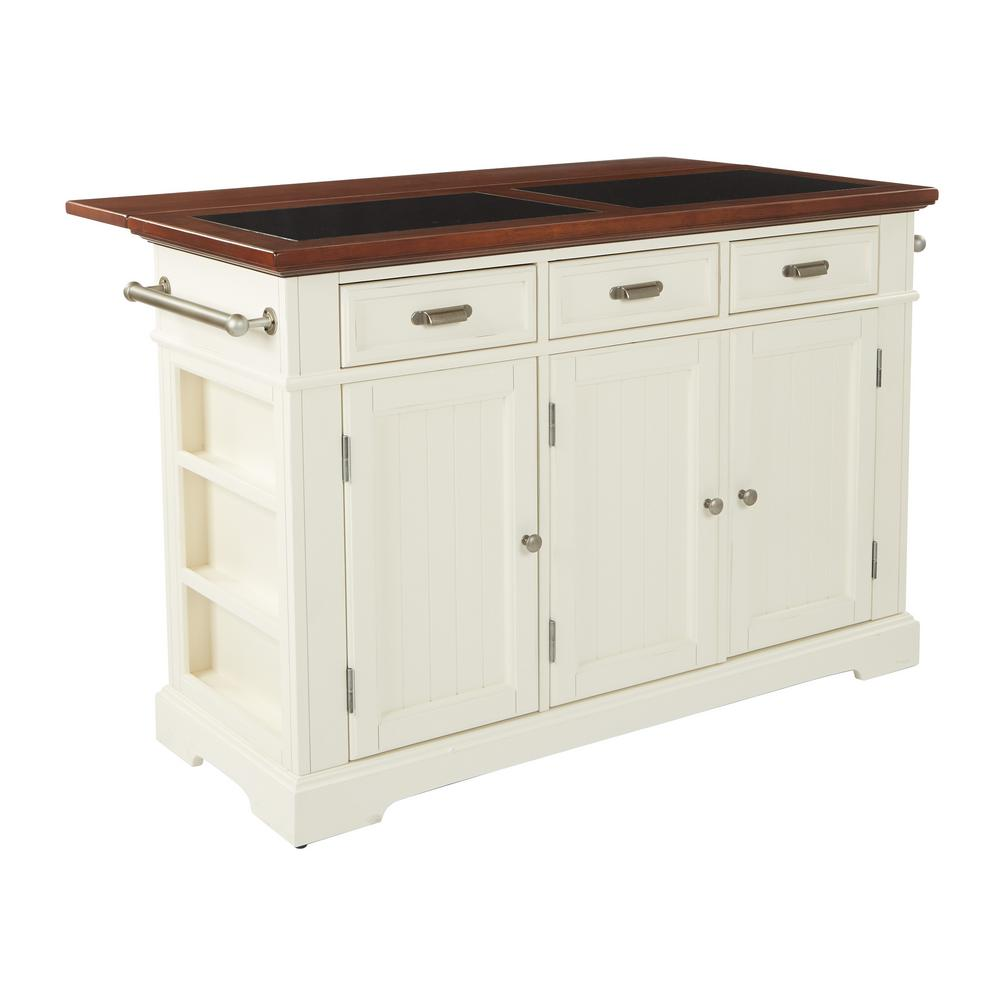 oak kitchen island with granite top inspired by bassett farmhouse basics white kitchen island 27309