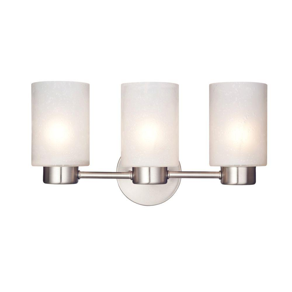 Westinghouse sylvestre 3 light brushed nickel wall fixture