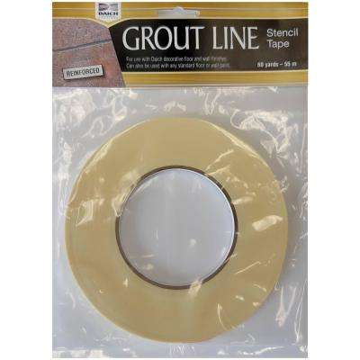 1/4 in. x 60 yds. Grout Line Stencil Tape High Tack