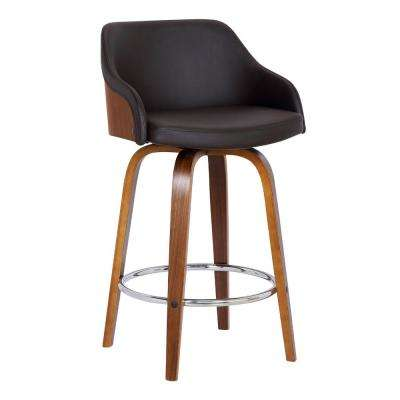 Alec 35 in. Brown Barstool