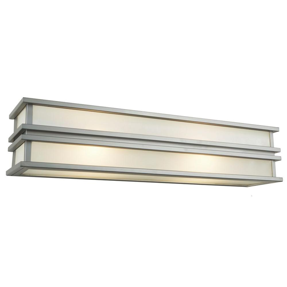 4-Light Brushed Stainless-Steel Sconce