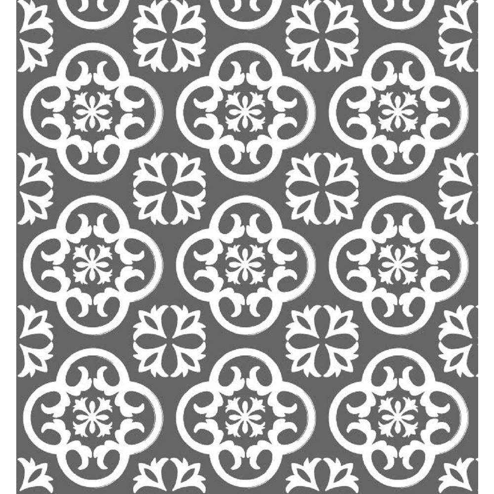 Printed Grip Premium Marbella Charcoal Shelf and Drawer Liner