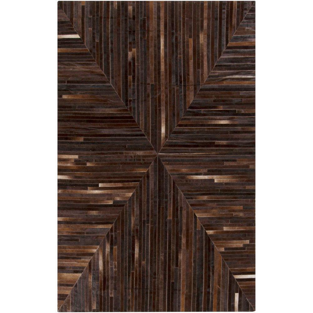 Albin Chocolate 5 ft. x 8 ft. Indoor Area Rug