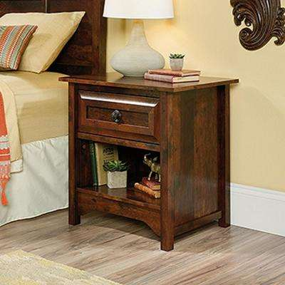 Viabella Collection 1-Drawer Curado Cherry Nightstand