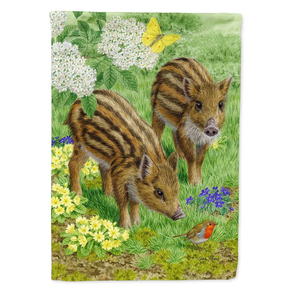 Caroline's Treasures 28 in  x 40 in  Polyester Wild Boar Flag Canvas House  Size 2-Sided Heavyweight
