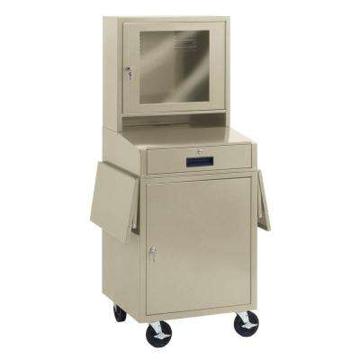 63.75 in. H x 24.5 in. W x 22.5 in. D Steel Computer Cabinet