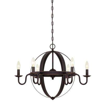 Brixton 6-Light Oil Rubbed Bronze Chandelier