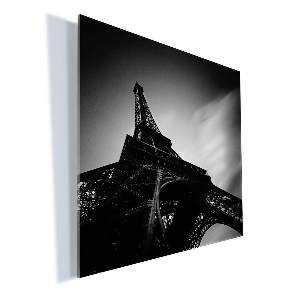 "Trademark Fine Art 18 in. x 24 in. ""Eiffel 1"" by Moises Levy Printed Acrylic Wall Art"