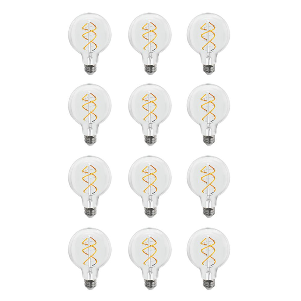 40-Watt Equivalent G25 Dimmable Spiral Filament LED Vintage Style Clear Glass